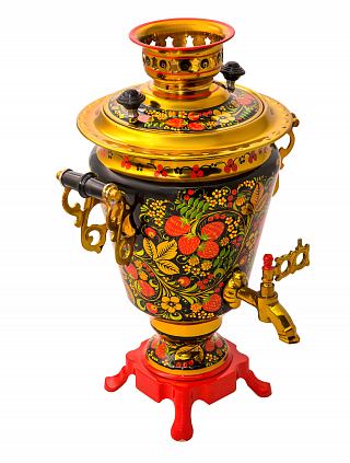 Samovar with khokhloma painting 3 l.